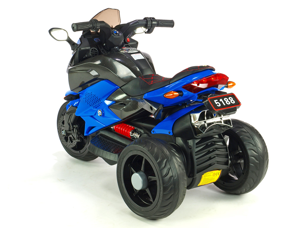 Cestovní motorka BNM s plynovou rukojetí a nožní brzdou, modrá