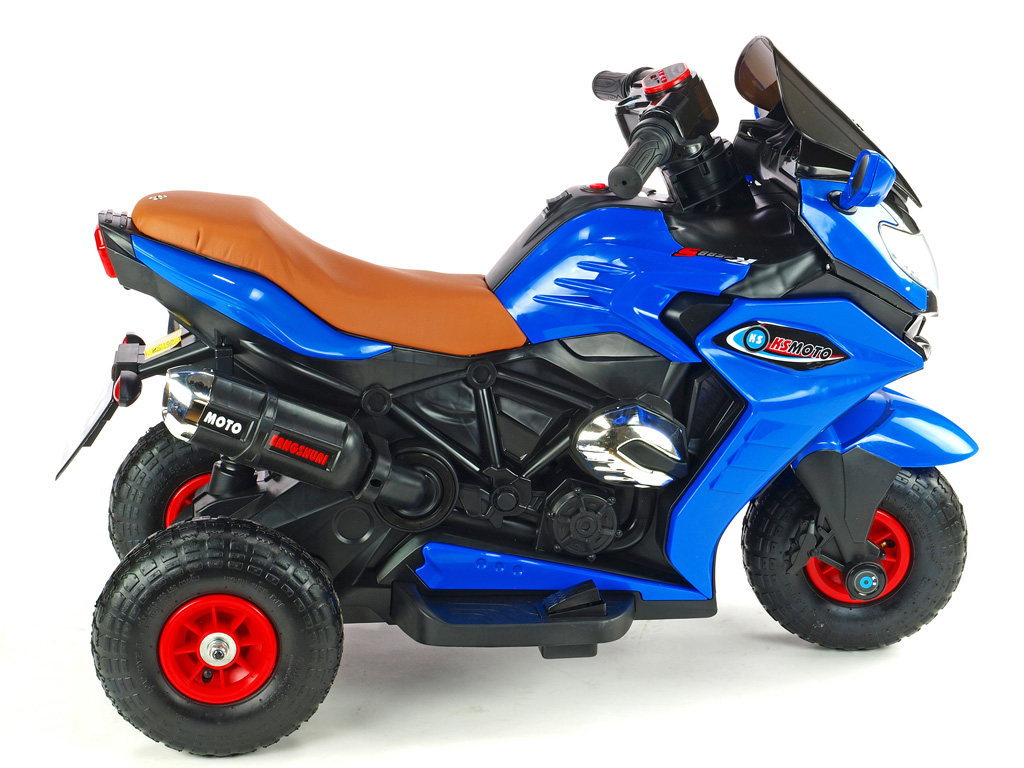 Motorka Dragon s plynovou rukojetí, nožní brzdou, gumovými nafukovacími koly, modrá
