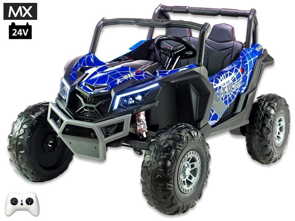 Bugina UTV - MX s 2,4G, dvoumístná, 24V/2x200W, polymer spider modrá