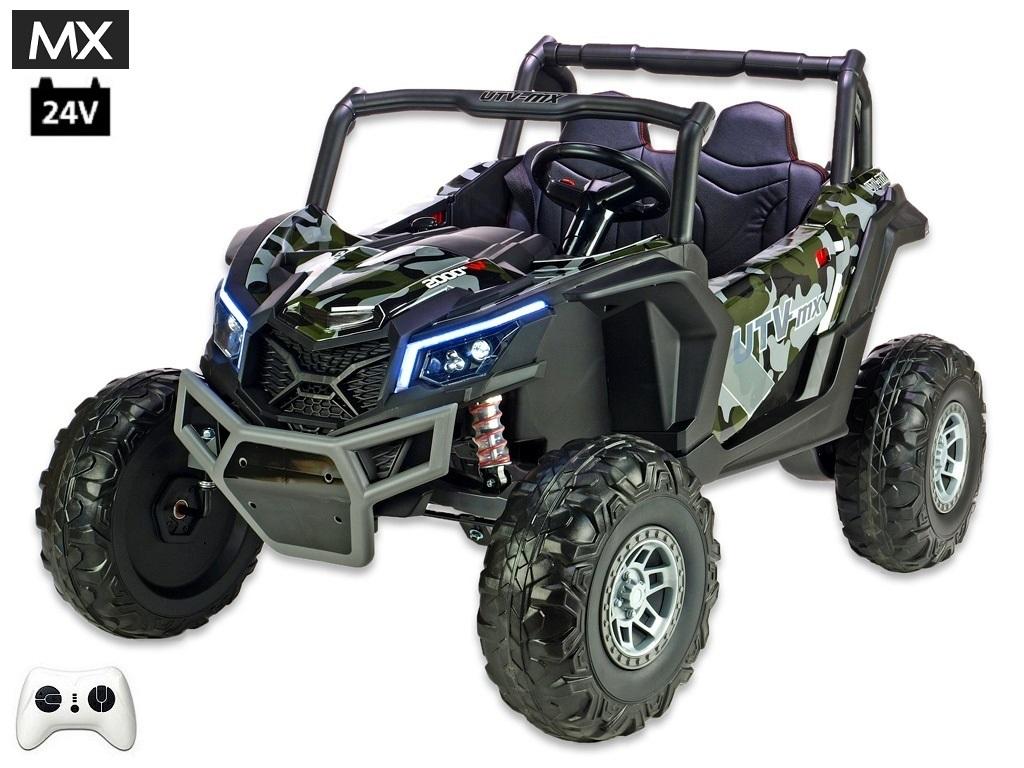 Bugina UTV - MX s 2,4G, dvoumístná, 24V/2x200W, polymer army camo