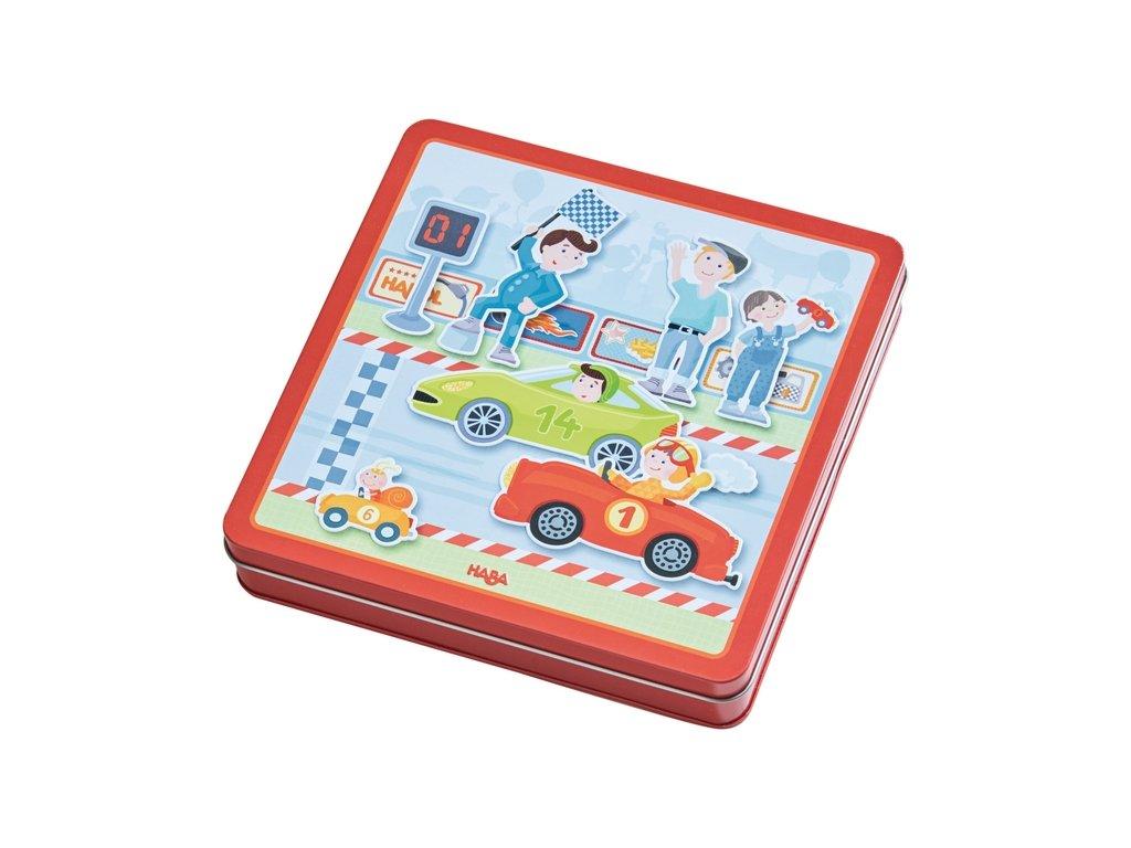 1976 haba magneticka hra zavodni auta