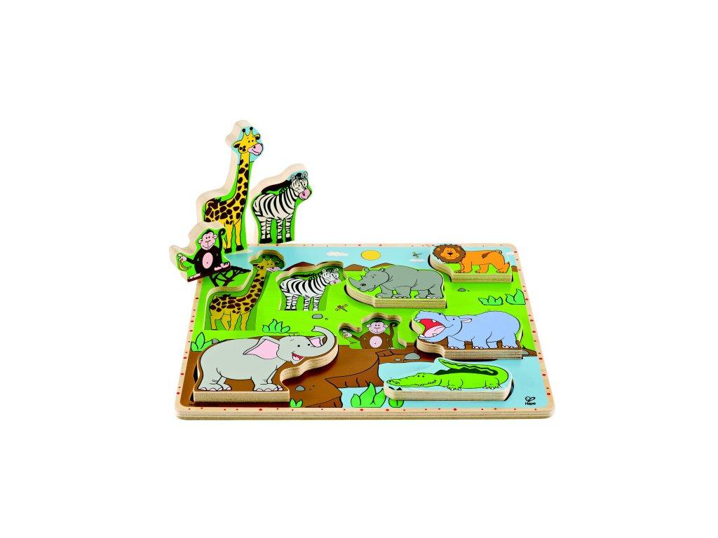518 hape puzzle zviratka dzungle