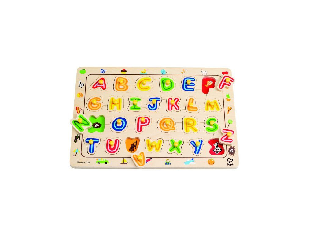 524 hape knoflikove puzzle abeceda