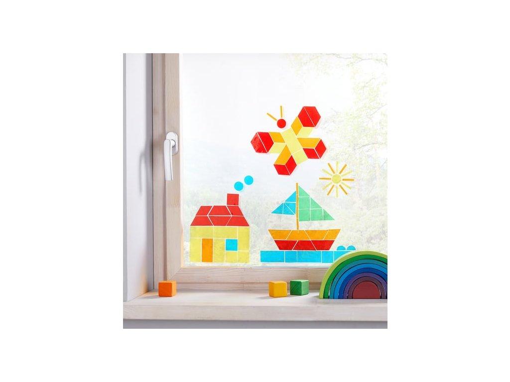5267 frobel okenni samolepky geometricke tvary
