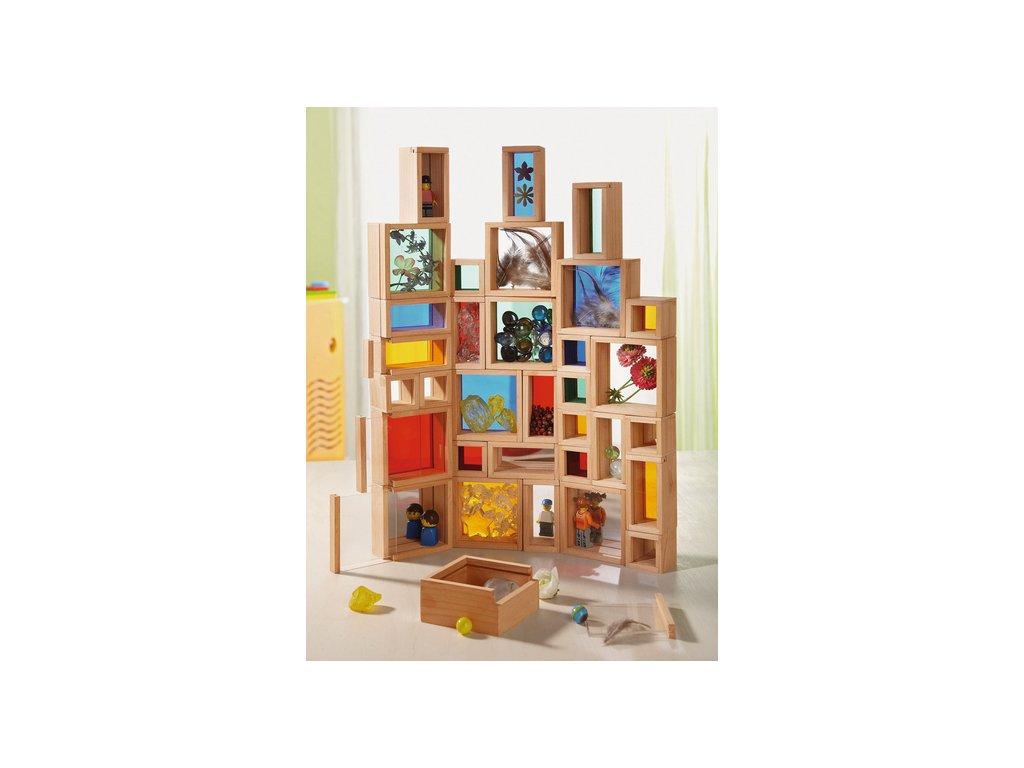 5375 plnici drevene barevne kosticky