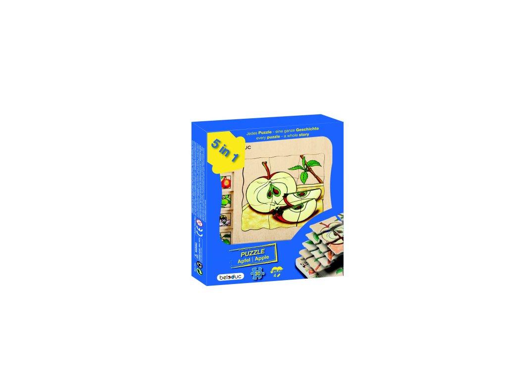 665 beleduc vyvojove vrstvene puzzle jablicko