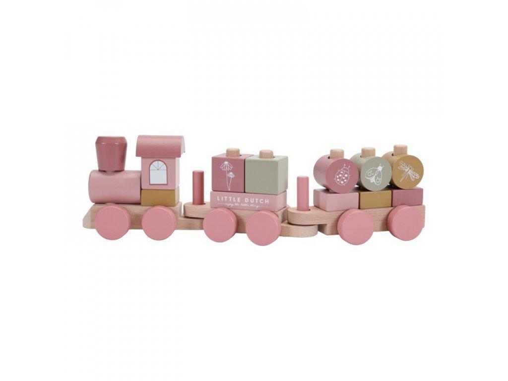 4479 wooden train adventure pink