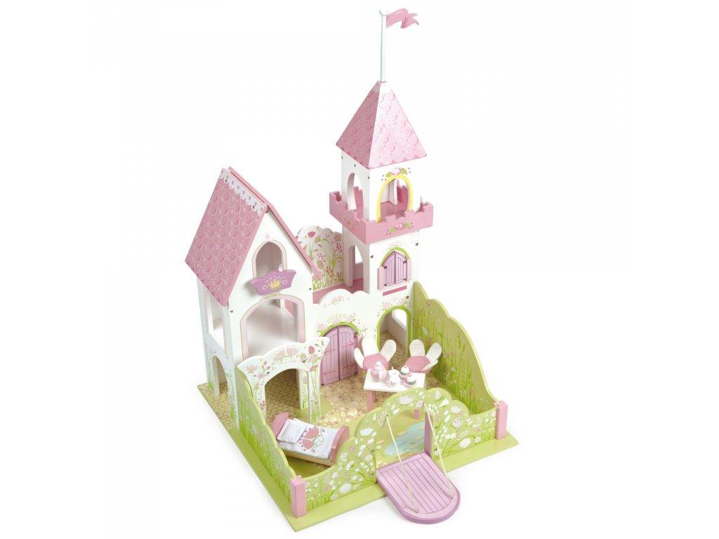 TV641 Pink Fairy Princess Castle Wooden