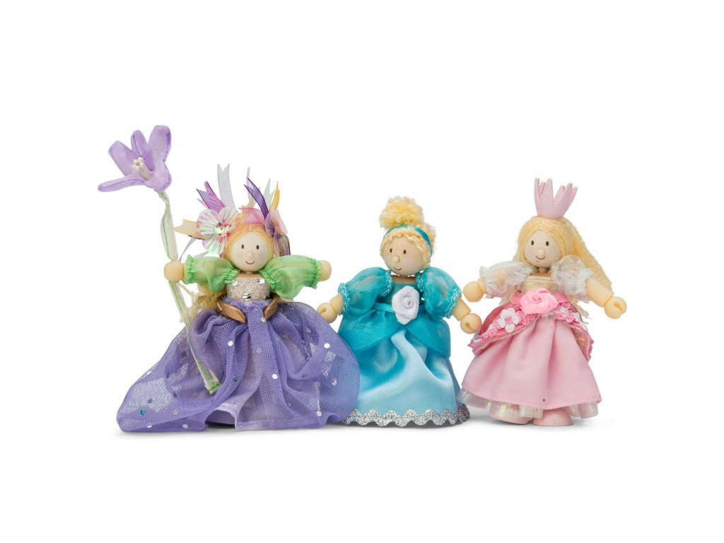 BK918 Princess Flower Wooden Fabric Toy