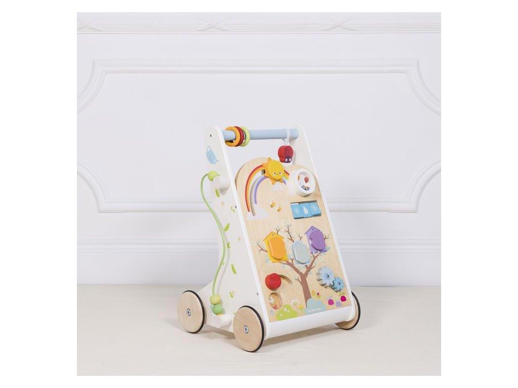 PL112 Activity Walker Wooden Sensory Woodland Toddler Toy Front