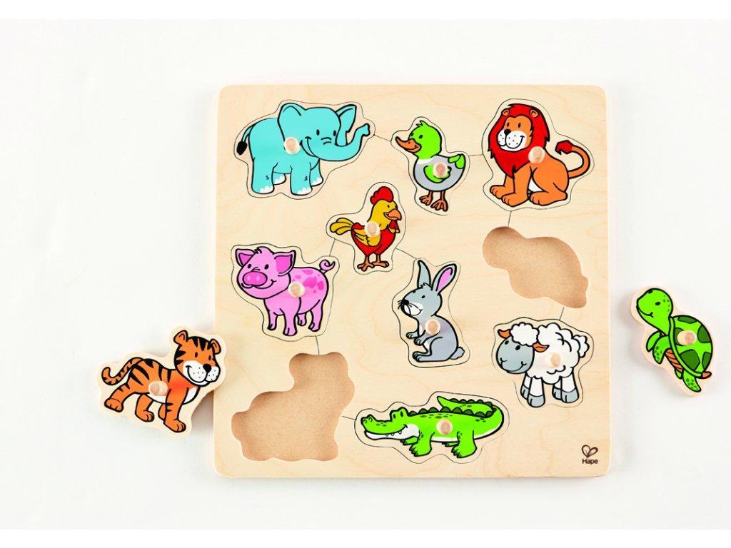 995 hape knoflikove puzzle zviratka