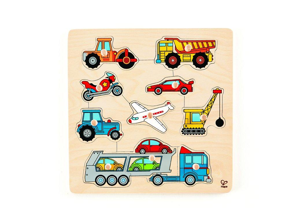 998 hape knoflikove puzzle dopravni prostredky
