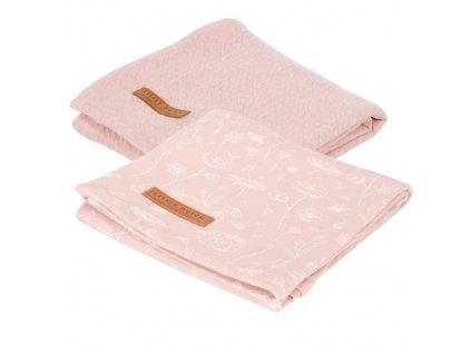 0012486 swaddle doeken 70 x 70 wild flowers pink pure pink 500