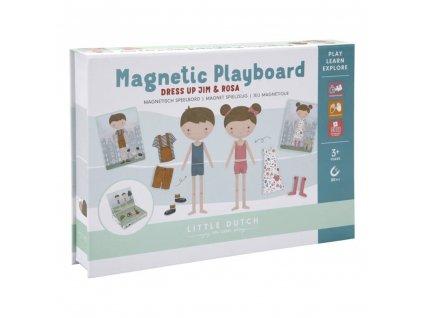 0012894 little dutch jim rosa magnetic puzzle andere 0 1000