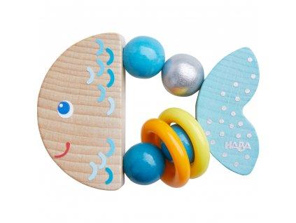 Haba - Dřevěná hrkačka RYBKA