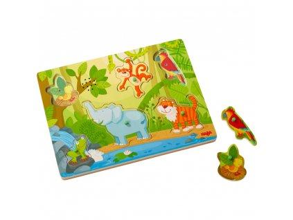 2618 haba drevene zvukove puzzle dzungle