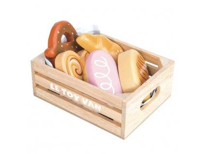 TV187 Patisserie Bakery Wooden Bread Baguette Pastry Cake Croissant Basket