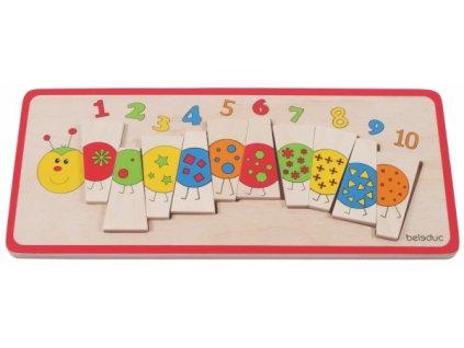 635 beleduc vkladaci puzzle pocitaci housenka