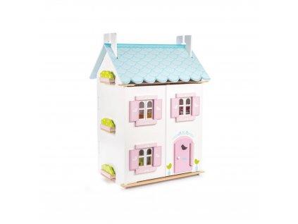 H138 Blue Bird Pink White Wooden Dolls House Furniture