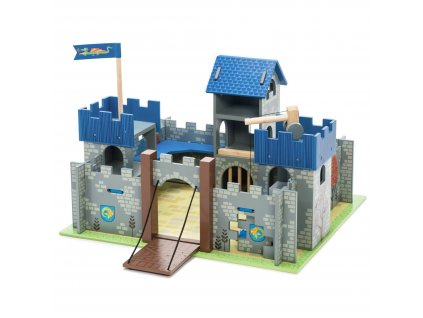 TV235 Excalibut Blue Wooden Toy Castle