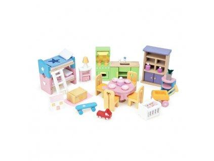 ME040 Starter Wooden Doll House Furniture Set