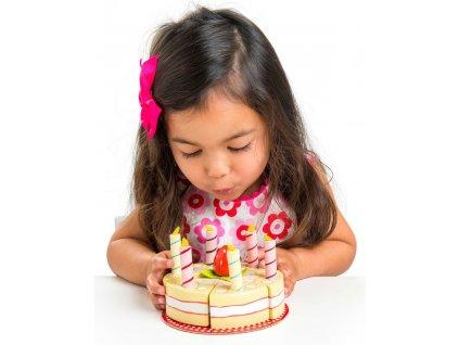 TV273 Vanilla Wooden Birthday Cake Candles Strawberry 720x