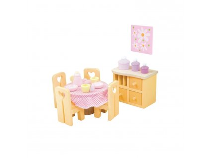 ME049 Sugar Plum Pink Dining Room Wooden Dolls House Furniture