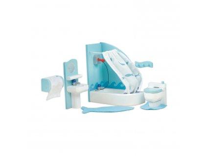 ME053 Sugar Plum Blue Bathroom Wooden Dolls House Furniture