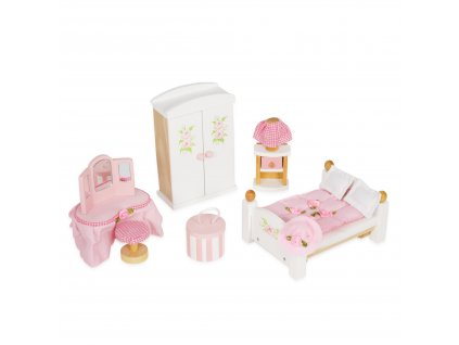 ME057 Daislane Master Bedroom Bed Wardrobe Bedside Table Dressing Table Doll House Accessories