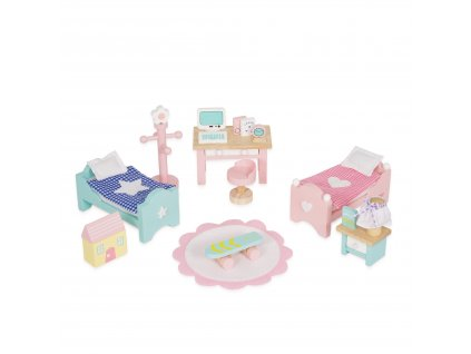 ME061 Daisylane Childrens Room Desk Beds Dollhouse Wooden Toy