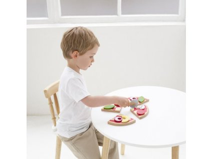 TV279 Pizza Wooden Role Play Food Cutter