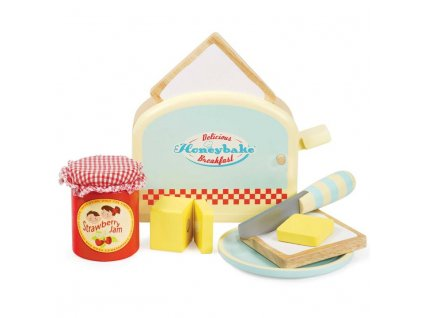 TV287 Toaster Breakfast Bread Jam Butter Wooden Toy