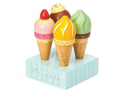TV328 Ice Cream Scoop Cone Wooden Toy