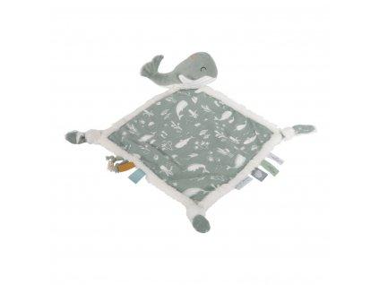 0004602 little dutch cuddle cloth whale ocean mint mint 0