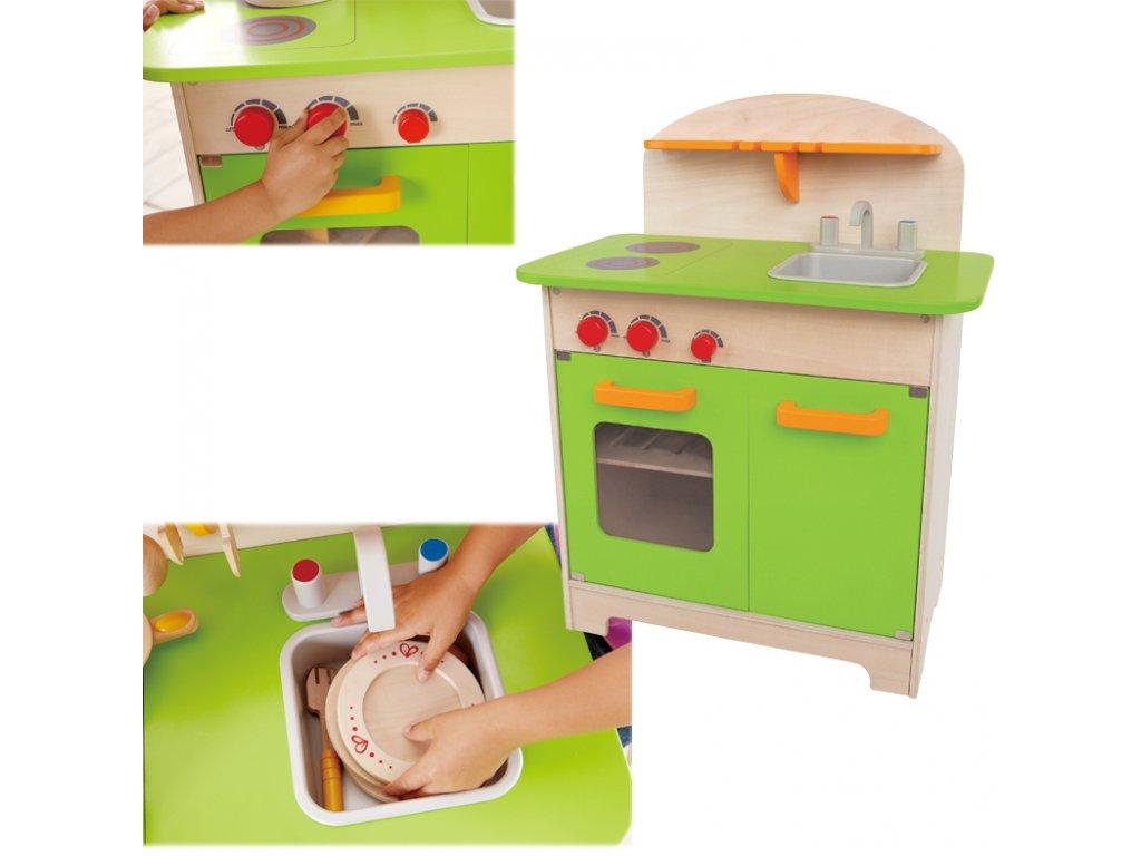 Hape drevená kuchynka zelená