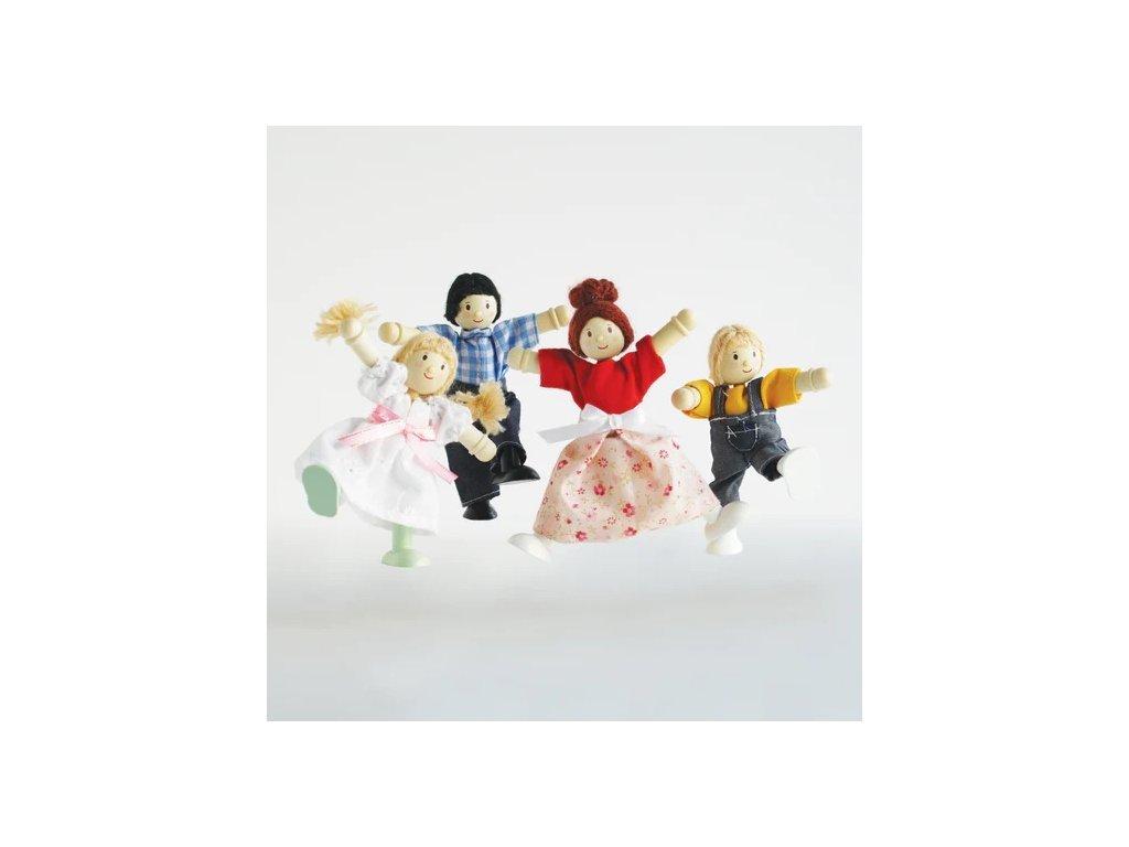 P053 Family Dolls House Wooden