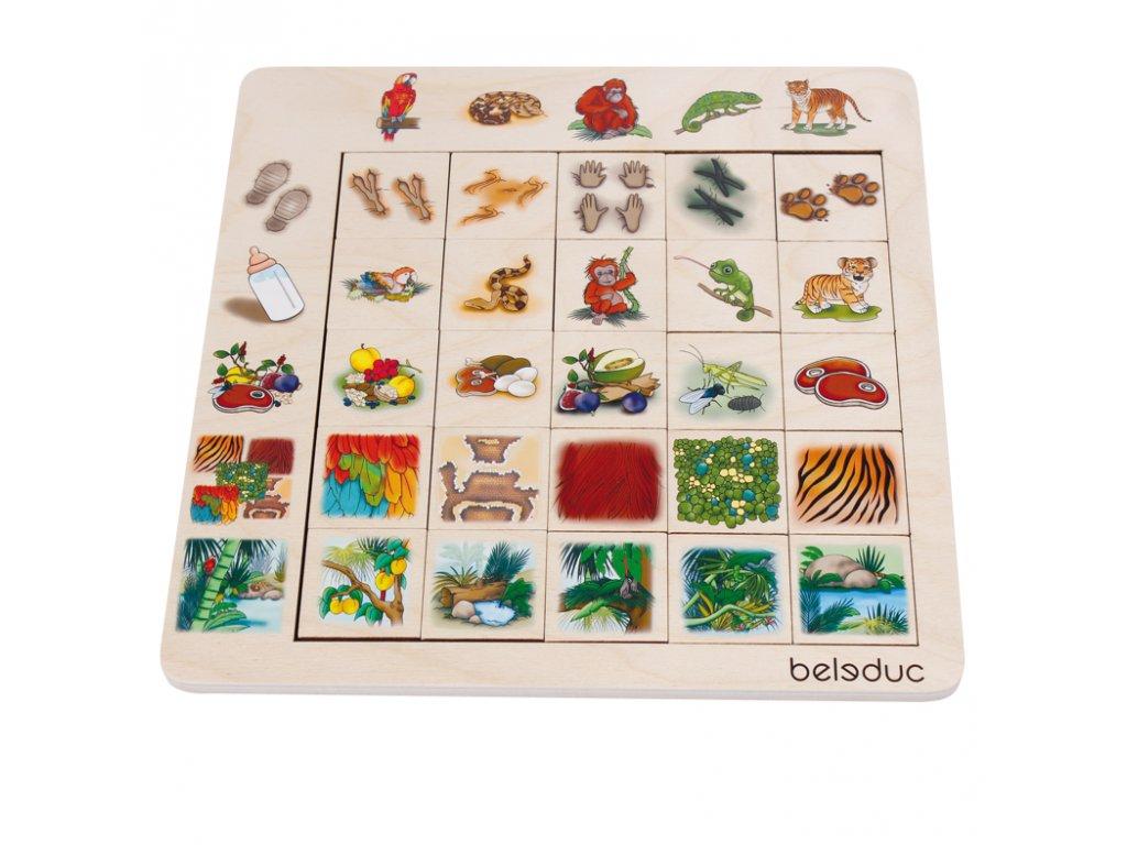 Beleduc Triediace puzzle DŽUNGLE