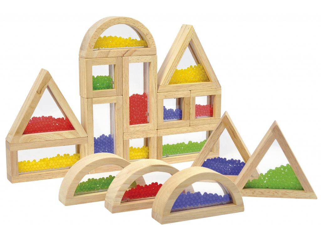 Eduplay Senzorické kocky s farebnými korálkami