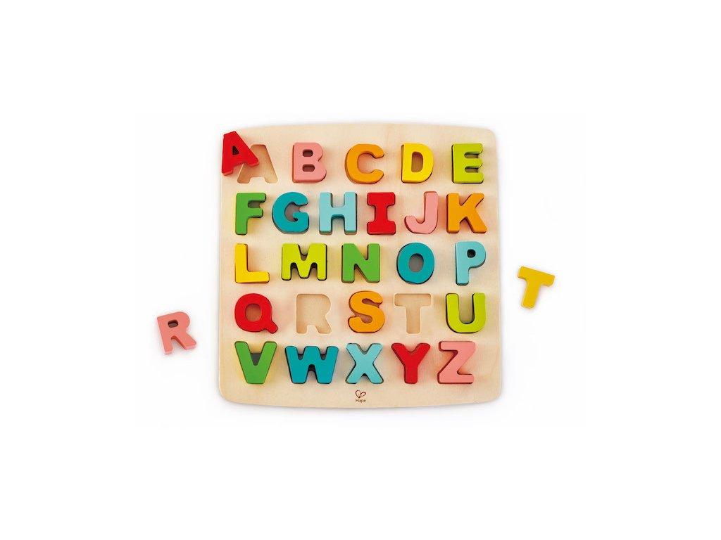 Hape Drevené puzzle ABECEDA veľké písmená