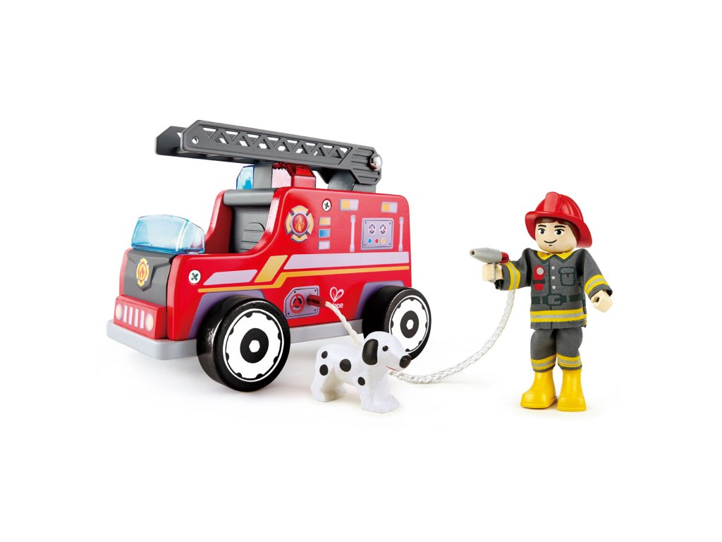 Hape Drevený hasičský voz