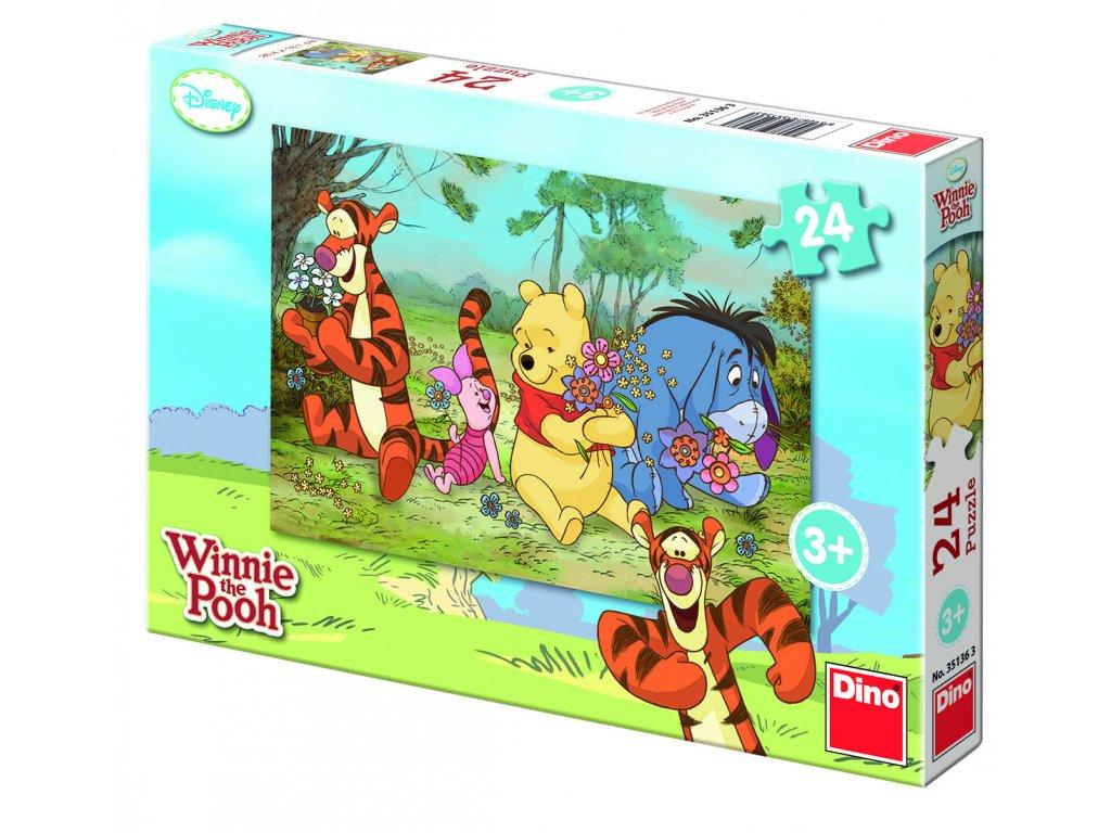 DINO Puzzle Medvedík Pú na rozkvitnutej lúke