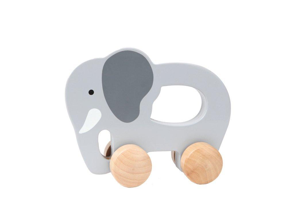 Hape Drevený ťahacie slon