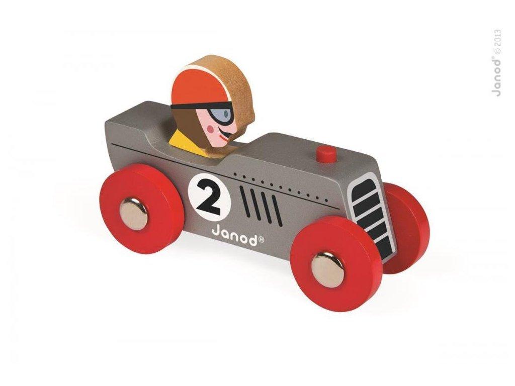 Janod drevené auto Story Racing Retromotor