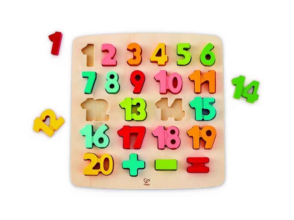 Hape Drevené puzzle s číslami