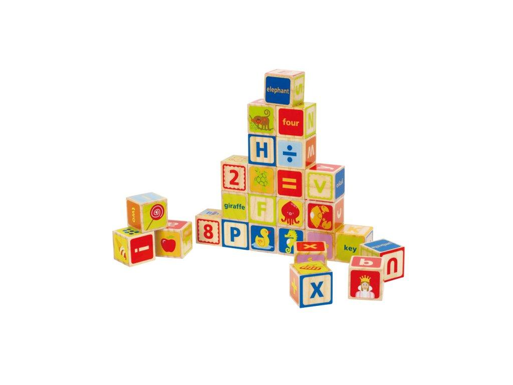 Hape drevené kocky s písmenkami