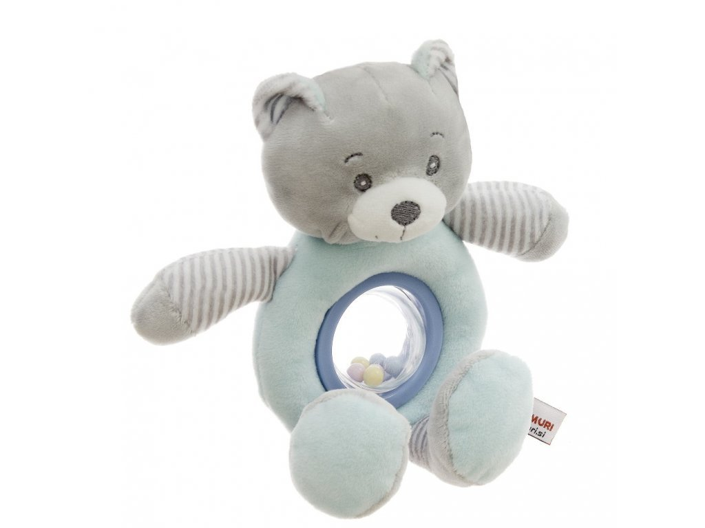 Baby Hug Plyšová hrkačka Medvedík