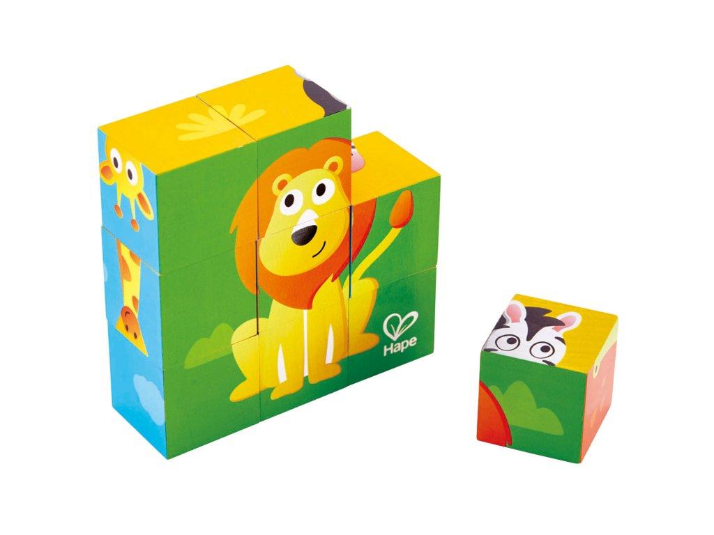 Hape Drevené kocky - zvieratká zo ZOO