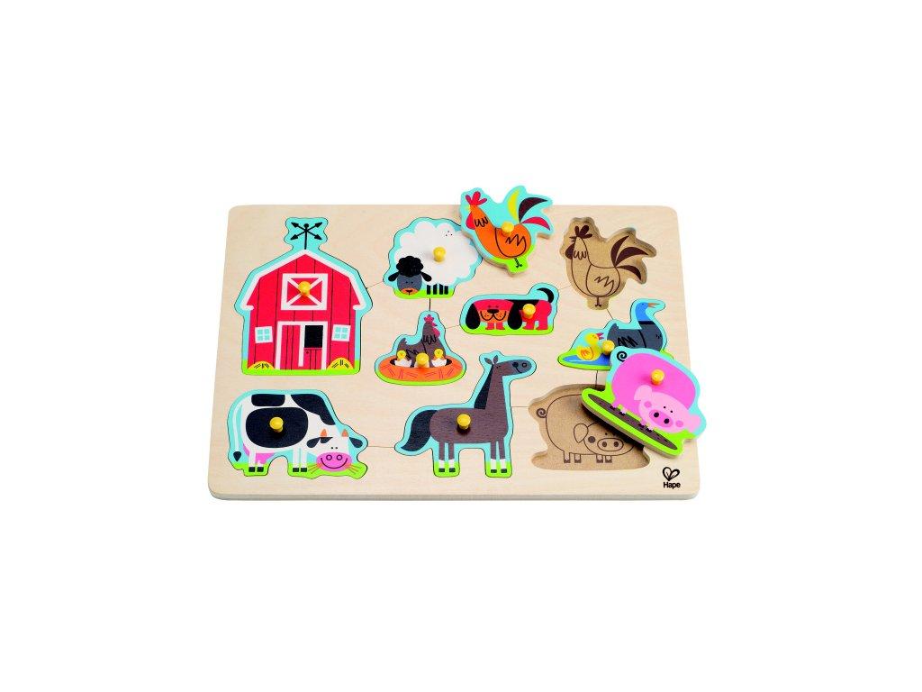 Hape Gombíkové puzzle - domáce zvieratká