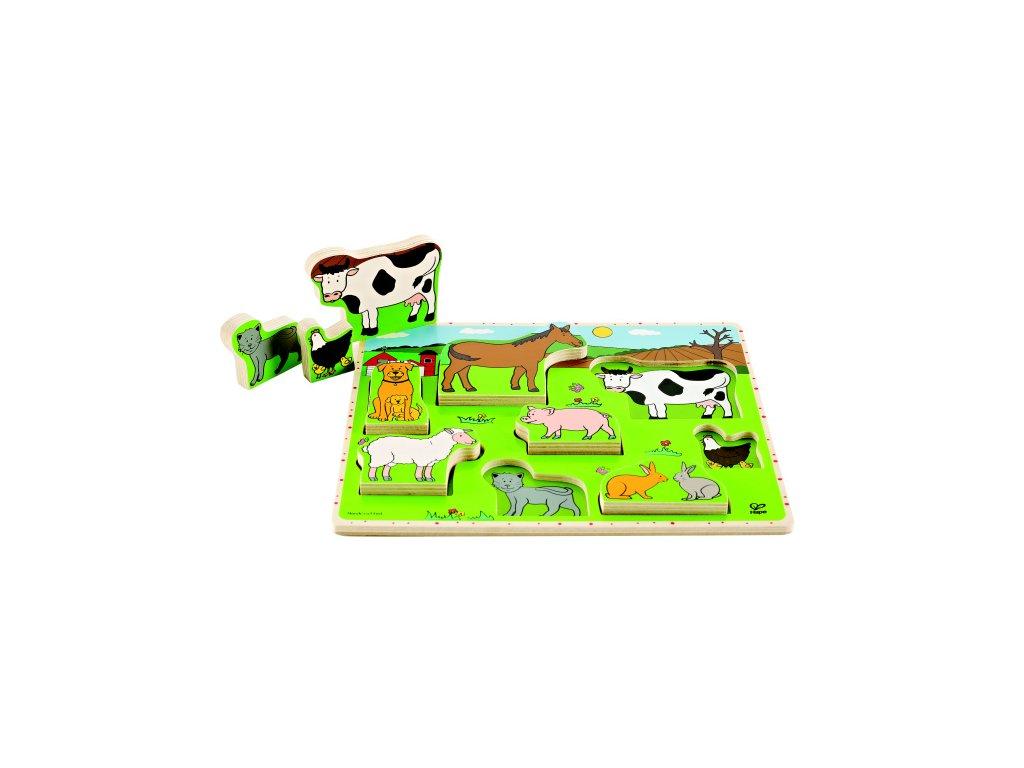 Hape Puzzle Domáce zvieratka