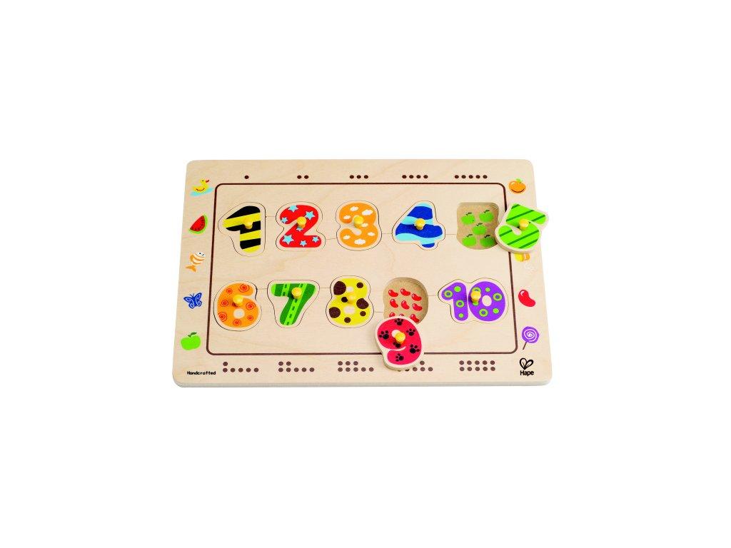 Hape Gombíkové puzzle ČÍSLA